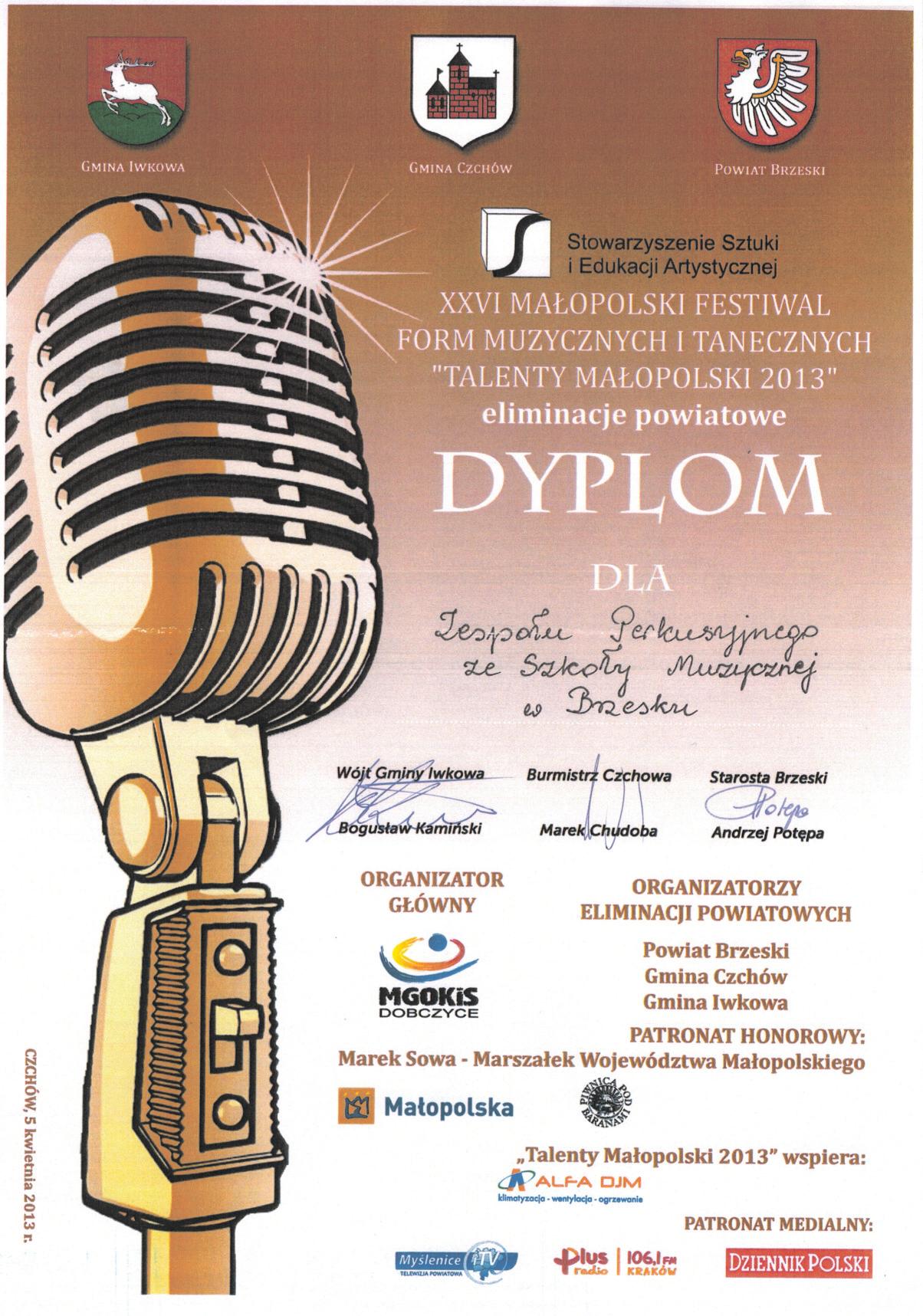 Talenty Małopolski 2013
