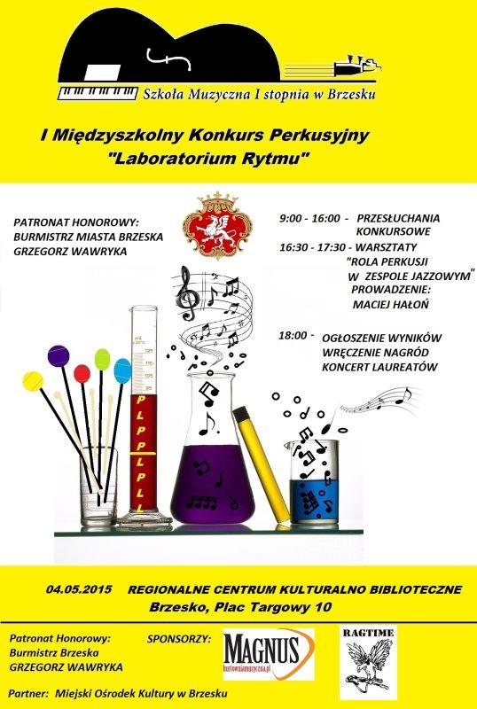 Plakat Konkursu Perkusyjnego