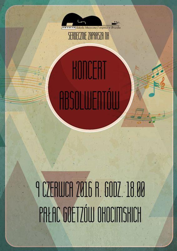 koncert absolwentów plakat