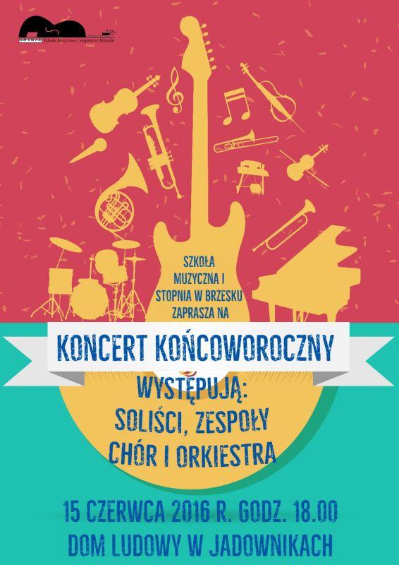 koncert końcoworoczny plakat